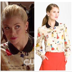 "Kate Spade ""Jessie"" silk button down Blouse 6"
